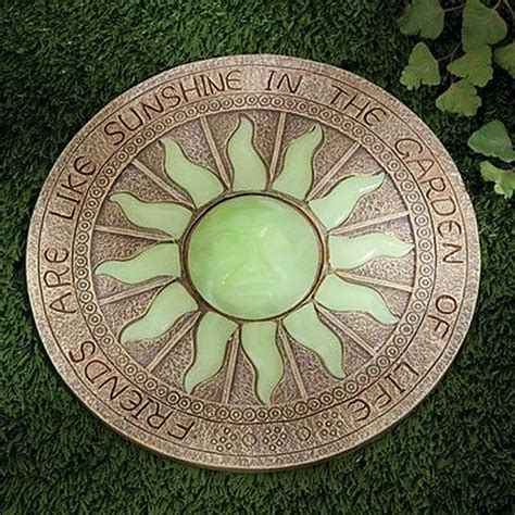 glow in the paint stepping stones enhance your yard by glow in the stepping