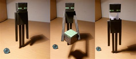 How To Make A Paper Enderman - papercraft minecraft enderman minecraft enderman paper