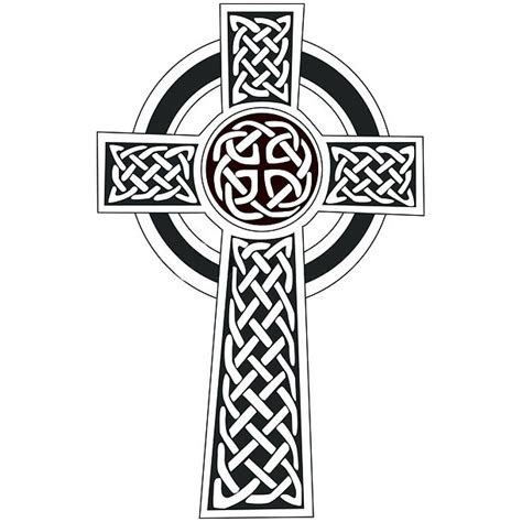 simple celtic cross tattoo design