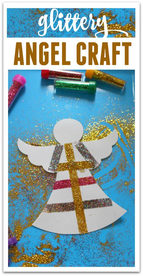 glittery angel easy christmas craft no time for flash