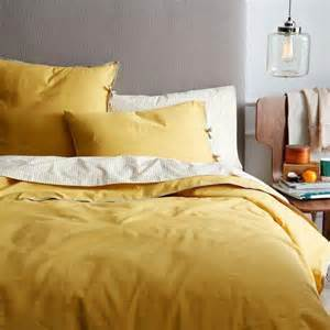 mustard yellow duvet cover linen cotton blend duvet cover shams golden gate