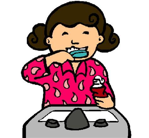 dibujo de ni a cepill ndose los dientes para colorear dibujo de ni 241 a cepill 225 ndose los dientes pintado por