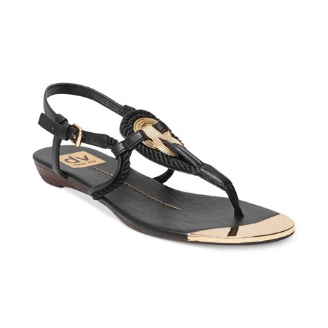 dolce vita flat sandals dolce vita dv by anica flat sandals in black lyst