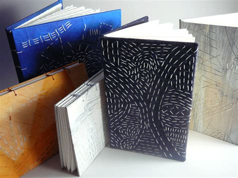 Handmade Book Covers - handmade books sashiko inspired book covers