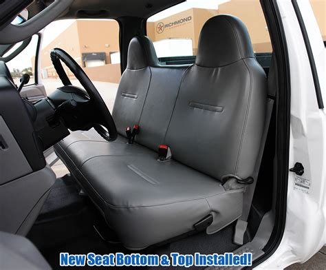 ford bench seat 2003 2007 ford f 450 xl vinyl lean back bench seat cover gray richmond auto upholstery