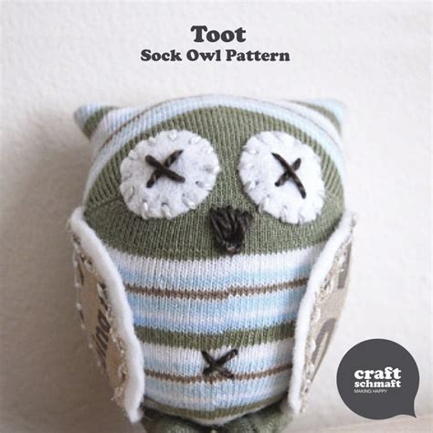 pattern for owl socks toot the sock owl pdf pattern by craftschmaft on etsy 8