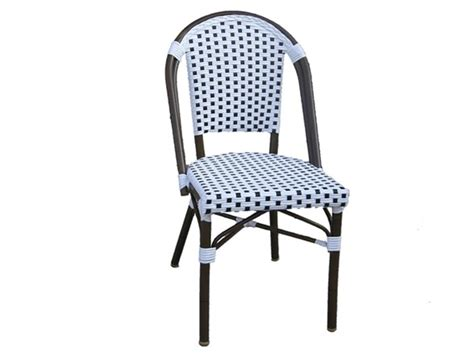 Navy Bistro Chairs All Weather Wicker Bistro Chair White Navy