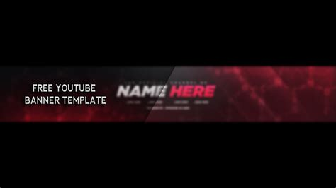 Free Youtube Banner Template Photoshop 2017 Youtube Banner Design Templates In Photoshop Free