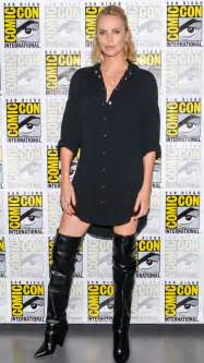 thigh high boots style of charlize theron effortless cool