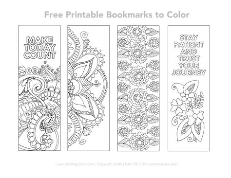 free printable november bookmarks free printable bookmarks to color coloring pages