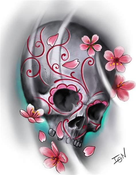 cherry skull tattoo designs 143 best images about sugar skull tattoos designs on