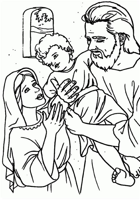 Holy Coloring Pages holy family coloring pages coloring home