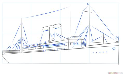 how to draw a boat plan how to draw a steamship step by step drawing tutorials