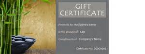free therapy gift certificate template special occasion spa gift voucher