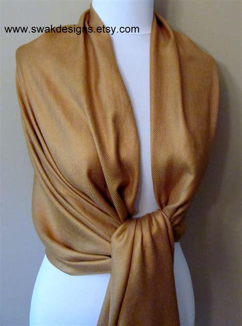 gold pattern pashmina bronze gold pashmina scarf wedding shawl bridesmaid