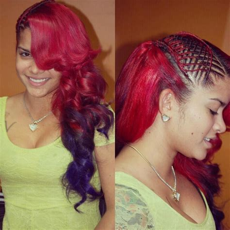 different ways to braid hair to sew in weave sew in w twists a splash of color afro hair