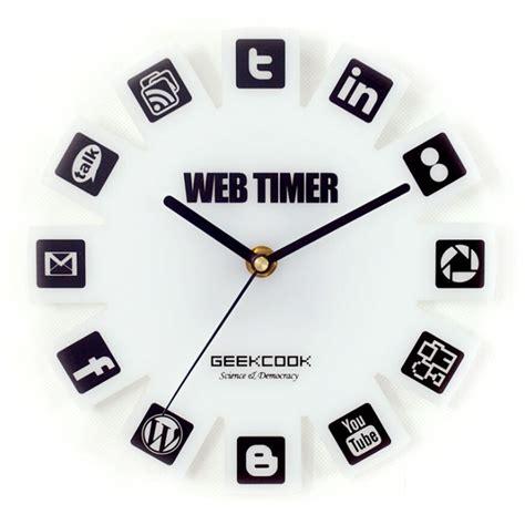 web 2 0 timer wall clock jam dinding white