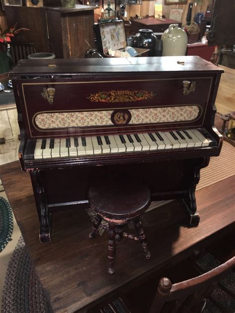 Childs Piano And Stool by Antique Wood Shoenhut Child S Piano And Stool