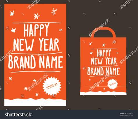 new year oranges bag happy new year orange shopping paper bag design layout