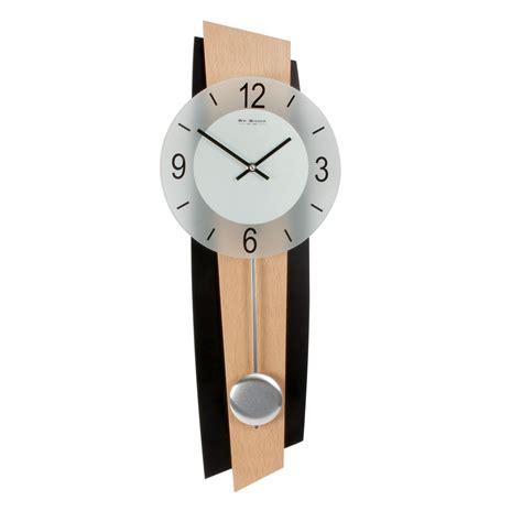widdop modern black beech pendulum wall clock