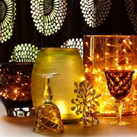 feature lighting in vases lights