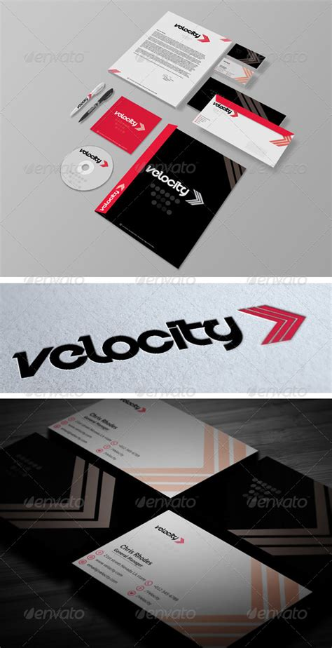 Velocity Card Template by Velocity Corporate Identity Print Templates