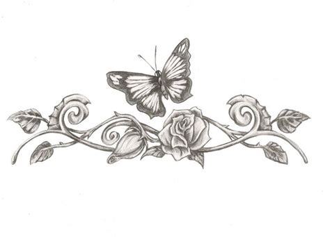 rose vine butterfly tattoo 25 best ideas about vine tattoos on