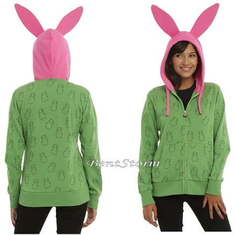 kuchi kopi light for sale bobs burgers louise belcher costume hoodie w pink bunny