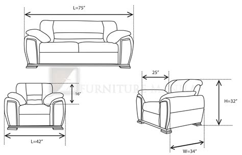 Sofa Set Measurements by Furniture Manila