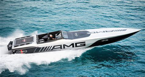 cigarette boat builder cigarette racing mercedes amg team up for 515 project one