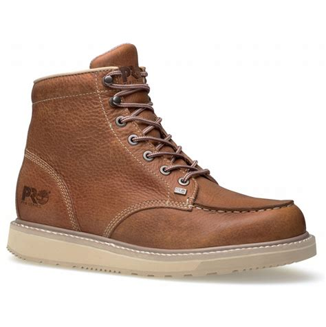timberland pro 89647 barstow wedge 6 quot moc soft toe boot