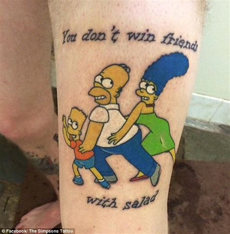 the simpsons tattoo queensland s runs simpsons instagram page for
