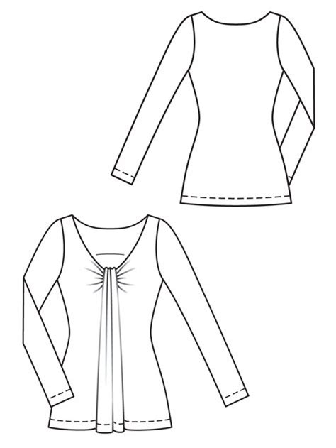 draped shirt pattern draped shirt 02 2013 113 sewing patterns burdastyle com
