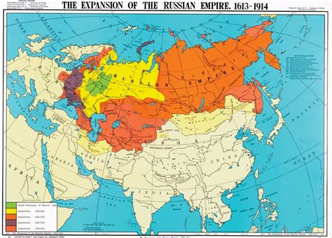 russian empire map the expansion of the russian empire 1613 1914 history map