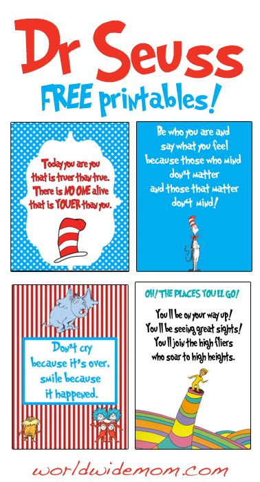printable book poster 30 dr seuss printable quotes quotesgram