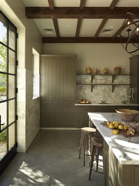 Rustic Orb Chandelier Taupe Kitchen Cabinets Contemporary Kitchen Taylor