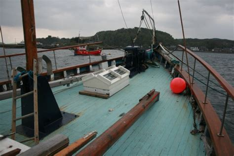 fishing boat with deck for sale scottish fishing boat wooden motor yacht