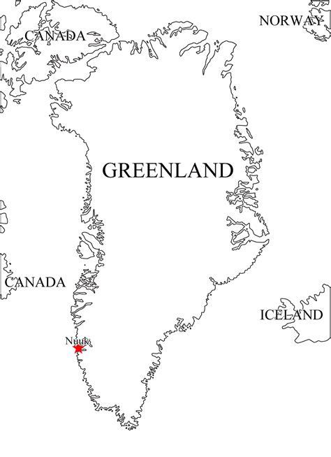 Grönland (DÄN) | Landkarten kostenlos – Cliparts kostenlos