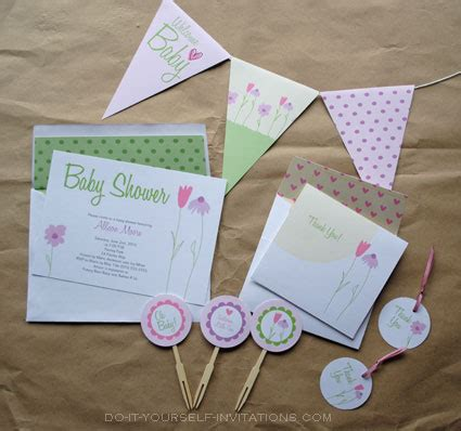 Diy Baby Shower Invitation Kits by Baby Shower Invitation Templates Flower Garden Whimsy