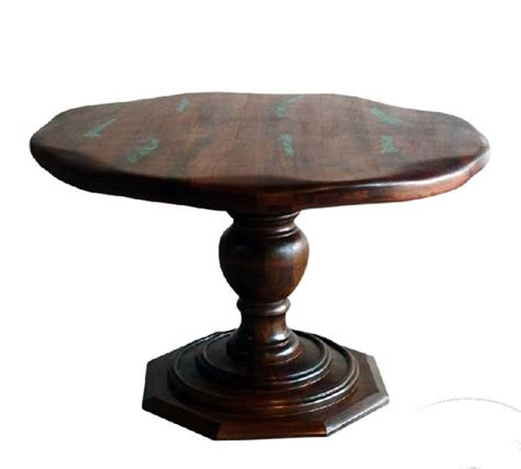 Mesquite Wood Pedestal Dining Table Western Dining Tables Mesquite Dining Table