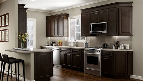 kitchens with espresso cabinets rta wood kitchen cabinets ready to assemble kitchen