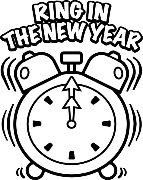 New Year Coloring Pages New Years Colouring Pages