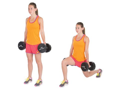 dumbbell bench lunges 2014 summer training guide volleyball stack