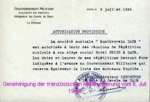 Antrag Briefwahl Daun Musikverein Daun 1946 1972