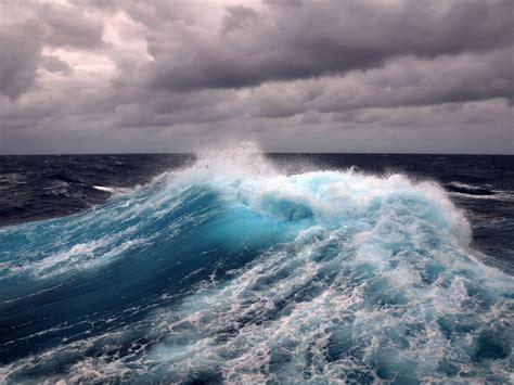 foam wave clouds ocean hd wallpaper wallpaperscom