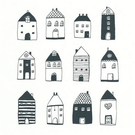 draw house illustrator little houses house doodle and house on pinterest