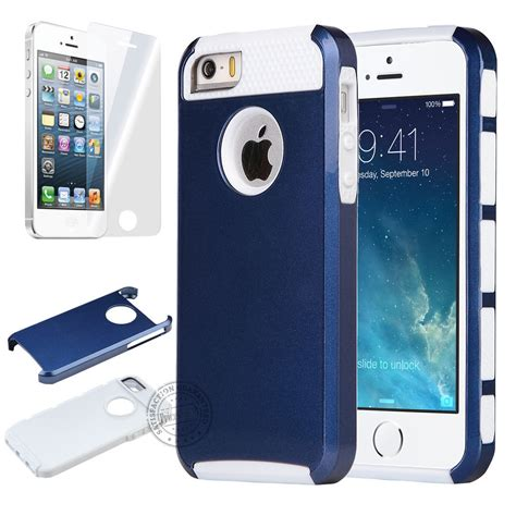 Apple Iphone 5 5s 5se Hybrid Shock Proof Slim Armor Soft Casing 1 heavy duty armour hybrid shock proof builders cover for apple iphone 5s 4s ebay