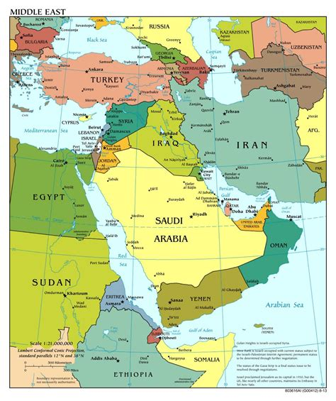 middle east map cities large scale political map of the middle east with major