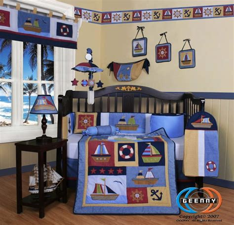 Blue Nursery Bedding Sets White And Blue Boys Bedding And Baby Boys Comforter Set