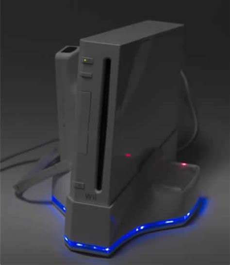 Wii Cooling Fan Stand Kipas Wii Led Blue multifunctional 4 in 1 stand for the wii